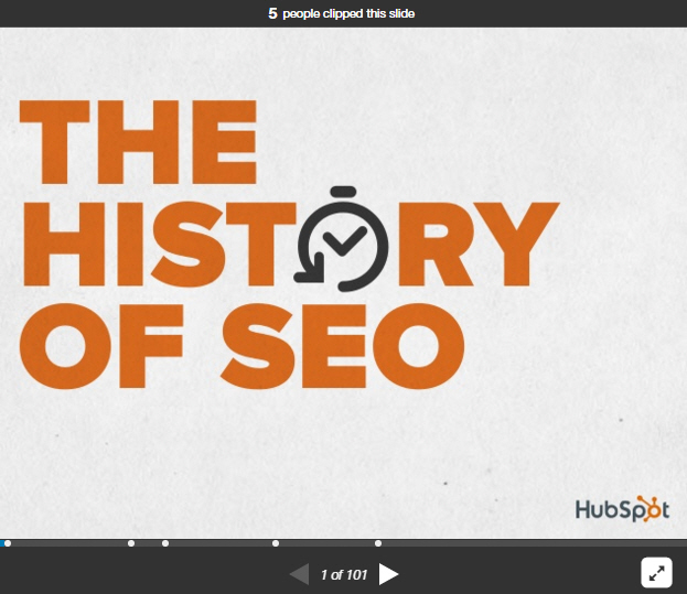 The History of SEO from Slideshare with Images